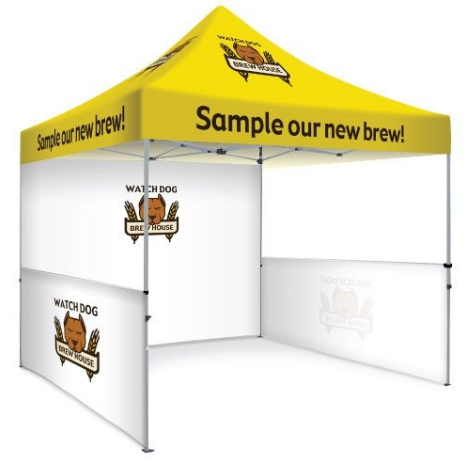 10ft x 10ft / 10' x 10' (3m x 3m) Custom Printed Marquee | Custom Printed Gazebo | Custom Printed Tent |
