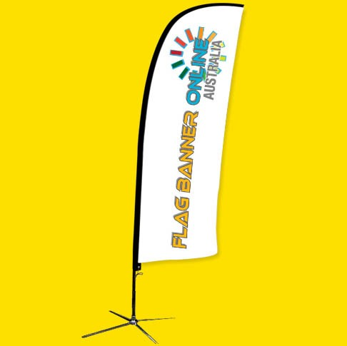 6.6ft (2.0M) FEATHER BANNER (FEATHER FLAG BANNER)