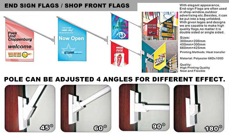 End Sign Flag Shop Front Flag Pos Flags Wall Flag