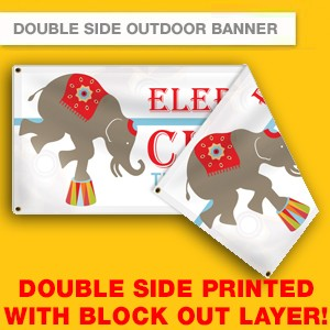 DOUBLE SIDE OUTDOOR BANNER (HIGH RESOLUTION PRINTING)